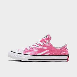 Taylor Converse Big Kids' Chuck Taylor All Star Tie-Dye Low Casual Shoes in Pink Size 6.0 Canvas
