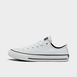 Converse Big Kids' Chuck Taylor All Star Low Top Casual Shoes in White Size 4.5 Canvas