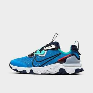 Nike Boys' Big Kids' React Vision Running Shoes in Blue/Photo Blue Size 5.0