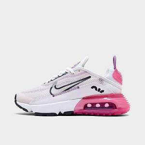 Nike Girls' Big Kids' Air Max 2090 Casual Shoes in White Size 6.5