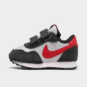 Nike Boys' Toddler MD Valiant Hook-and-Loop Casual Shoes in Black/White Size 10.0 Suede