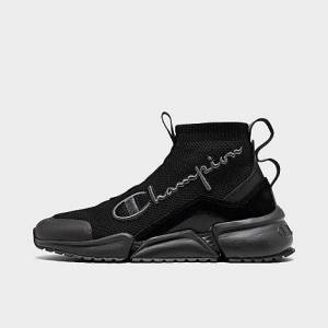Champion Boys' Big Kids' Rally Future Mid Casual Shoes in Black Size 5.0