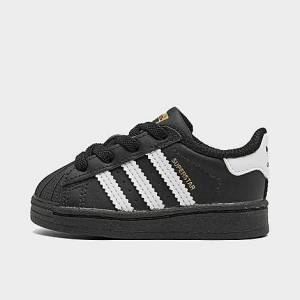 Adidas Kids' Toddler Originals Superstar Casual Shoes in Black Size 9.5 Leather