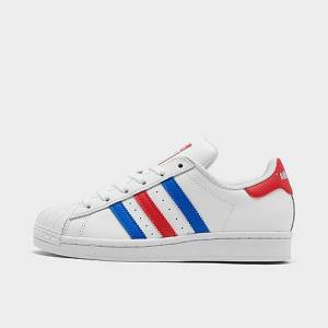 Adidas Big Kids' Originals Superstar Casual Shoes in White Size 5.5 Leather