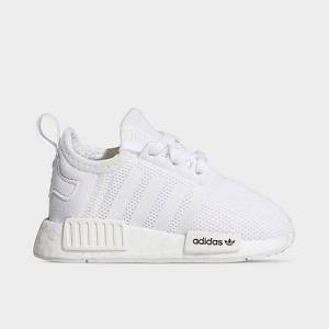 Adidas Kids' Toddler Originals NMD R1 Casual Shoes in White Size 9.5
