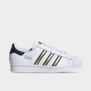 Adidas Big Kids' Originals Superstar Casual Shoes in White Size 6.0 Leather