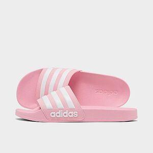 Adidas Girls' Big Kids' Adilette Shower Slide Sandals in Pink Size 4.0