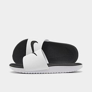 Nike Boys' Big Kids' Kawa Slide Sandals in White Size 4.0