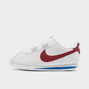 Nike Boys' Toddler Cortez Basic SL Hook-and-Loop Casual Shoes in White/White Size 5.0 Leather