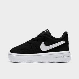 Nike Kids' Toddler Air Force 1 '18 Casual Shoes in Black/ Black Size 10.0 Leather