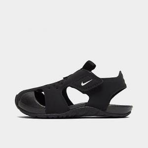 Nike Boys' Toddler Sunray Protect 2 Hook-and-Loop Sandals in Black/Black Size 10.0