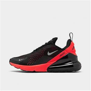 Nike Big Kids' Air Max 270 Casual Shoes in Black Size 5.0