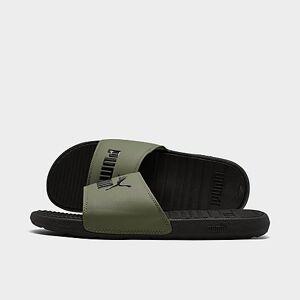 Puma Men's Cool Cat Slide Sandals in Black Size 10.0