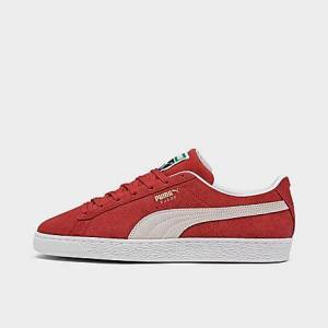 Puma Men's Suede Classic 21 Casual Shoes in Red/Red Size 8.0