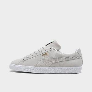 Puma Men's Suede Classic 21 Casual Shoes in Grey/Grey Violet Size 8.0