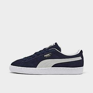 Puma Men's Suede Classic 21 Casual Shoes in Blue/Navy Size 12.0