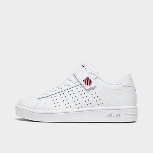 K-Swiss Boys' Little Kids' Court Casper Casual Shoes in White Size 1.0 Leather