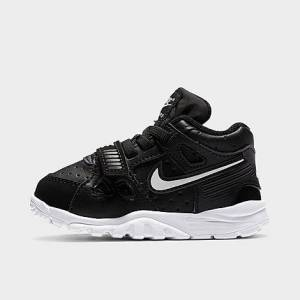 Nike Boys' Toddler Air Trainer 3 Training Shoes in Black Size 4.0 Leather