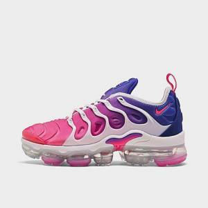 Nike Women's Air VaporMax Plus SE Running Shoes in Pink/Blue Size 9.5 Leather/Suede