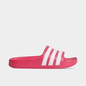 Adidas Girls' Little Kids' Originals Adilette Aqua Slide Sandals in Pink Size 3.0