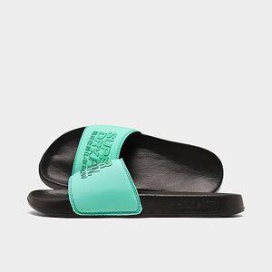 Superdry Men's Sorento Pool Slide Sandals in Black Size Small