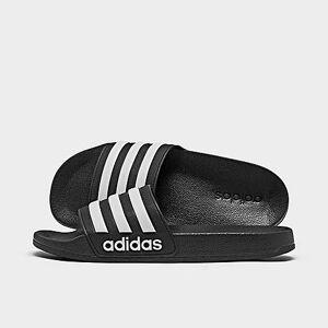 Adidas Big Kids' Adilette Shower Slide Sandals in Black/Core Black Size 6.0