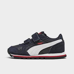 Puma Boys' Toddler ST Runner V2 Casual Shoes in Blue Size 9.0 Leather/Nylon/Suede