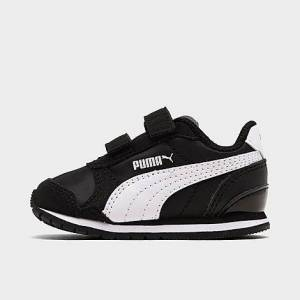 Puma Kids' Toddler ST Runner Hook-and-Loop Casual Shoes in Black Size 5.0 Nylon/Suede