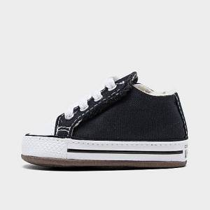 Taylor Converse Boys' Infant Chuck Taylor All Star Cribster Crib Booties in Black Size 3.0 Canvas/Lace