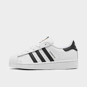Adidas Little Kids' Originals Superstar Casual Shoes in White Size 1.0 Leather