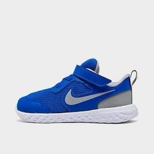 Nike Boys' Toddler Revolution 5 Hook-and-Loop Running Shoes in Blue/Game Royal Size 6.0 Knit
