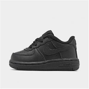Nike Kids' Toddler Air Force 1 Low Casual Shoes in Black Size 4.0 Leather