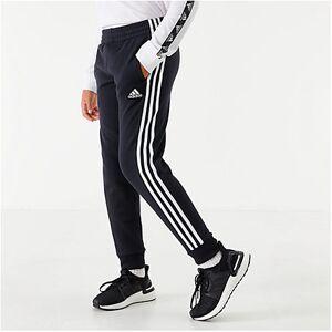 Adidas Boys' Originals Sport Fleece Jogger Pants in Black Size Medium
