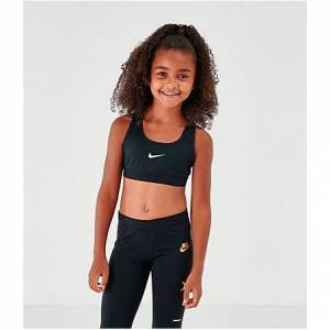Nike Girls' Classic Sports Bra in Black Size Small Polyester/Spandex