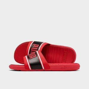 Puma Men's Cool Cat Sport Retro Slide Sandals in Red Size 11.0 Leather