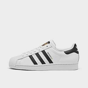 Adidas Men's Originals Superstar Canvas Casual Shoes in White/Cloud White Size 10.0
