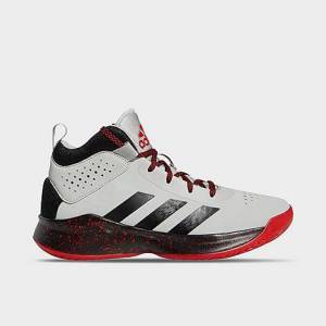 Adidas Little Kids' Cross Em Up 5 Basketball Shoes - Wide in Grey/Grey Size 1.0