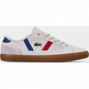 Lacoste Women's Sideline Casual Shoes in White Size 8.5 Leather/Canvas