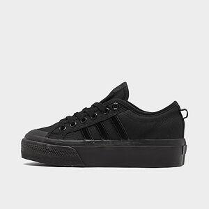 Adidas Women's Originals Nizza Platform Casual Shoes in Black Size 7.5