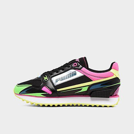 Puma Women's Mile Rider Casual Shoes in Black/ Black Size 5.5 Suede