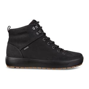 ECCO Mens Soft  Tred GTX High Boots size  : 7 - Black