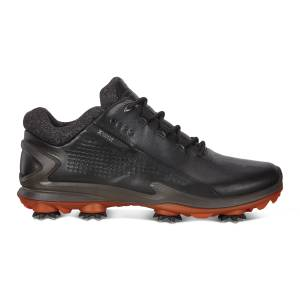 ECCO Mens BIOM G3 Cleated Golf Shoes: 7 - Black
