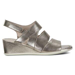 ECCO Shape 35 Wedge Sandal Heel size  : 9 - Stone Metallic