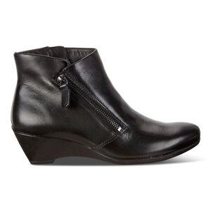ECCO Sculptured 5 W Zip Shoes size  : 4 - Black