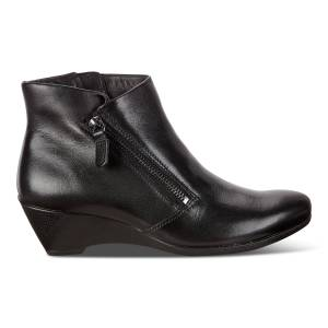 ECCO Sculptured 4 W Zip Shoes size  : 5 - Black