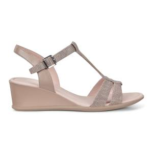 ECCO Shape 35 Wedge T-strap Shoes size  : 10 - Dune
