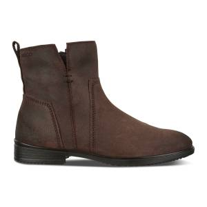 ECCO Touch 15 Womens Bootie: 7 - Coffee