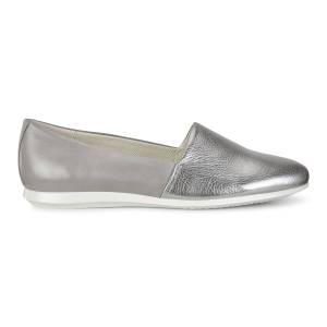 ECCO Touch Ballerina 2.0 Womens Flat Shoes size  : 10 - Alu Silver
