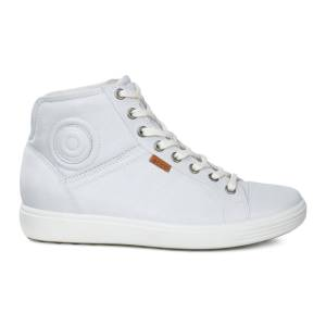 ECCO Womens Soft 7 High Top Sneakers Size 4-4.5 White