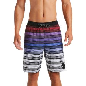 "Nike Men's Striped Breaker 9"" Volley Swim Shorts"